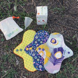 LOTE Compresas de DÍA ecológicas + COPA Menstrual Naturcup