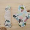 Compresa de tela lavable eco HOJAS-BEIGE